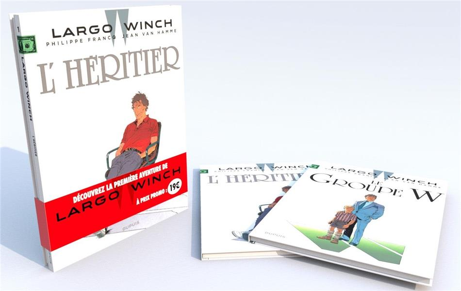 Bipack Largo Winch tomes 1 et 2 Largo Winch, Vol. 1. L'héritier Largo Winch, Vol. 2. Le groupe W